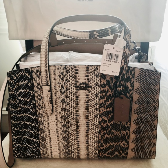 Coach Handbags - COACH  Ombré Snake Charlie Carry All Bag